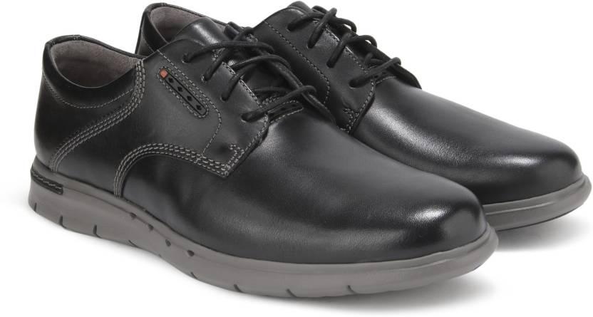 bf15c330 Clarks Unbyner Lane Black Leather Casual For Men