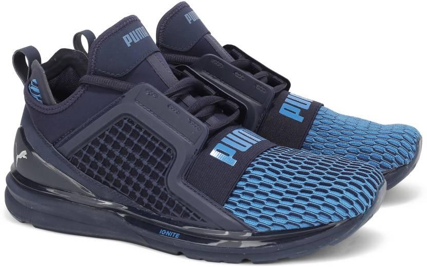 Puma IGNITE LIMITLESS COLORBLOCK Running Shoe For Men - Buy Peacoat ... 87027c001