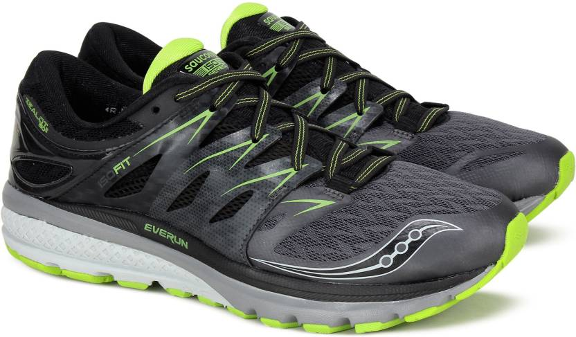 cd7777bb Saucony ZEALOT ISO 2 Running Shoes For Men - Buy GRY BLK Color ...