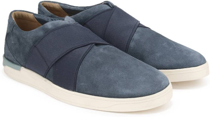 43309053 Clarks Stanway Easy Blue Suede Casual For Men