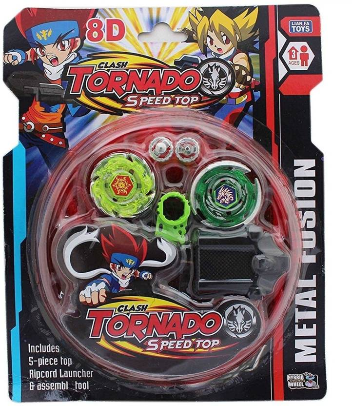 Zest 4 Toyz 2 Beyblade Set With Ripchord Launcher And Assemble Tool