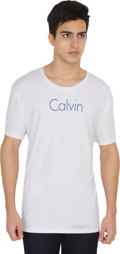 4e5721d4186 Calvin Klein Solid Men s Round Neck White T-Shirt - Buy 112 Calvin Klein  Solid Men s Round Neck White T-Shirt Online at Best Prices in India