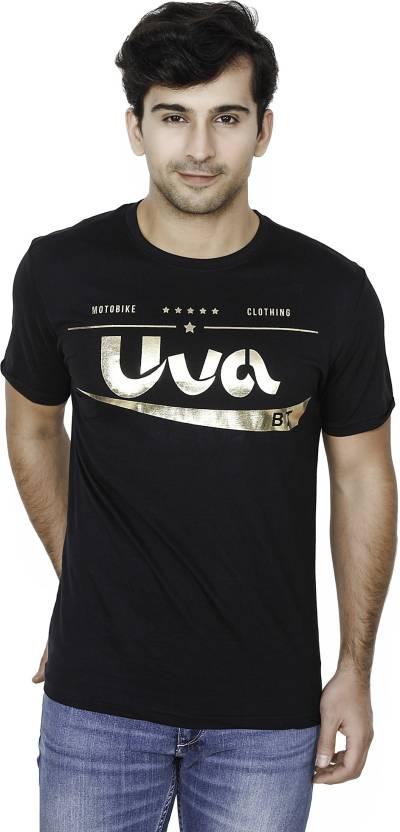 BrandTrendz Solid Mens Round Neck Black T-Shirt