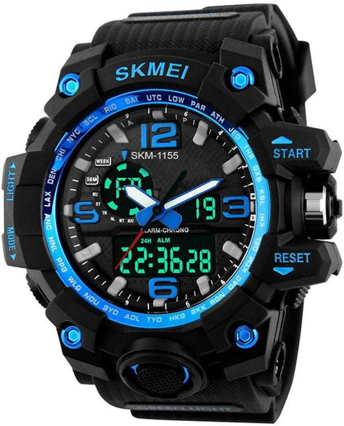 Skmei 1155BLUE Outdoor Sports Dual Time Watch - For Men