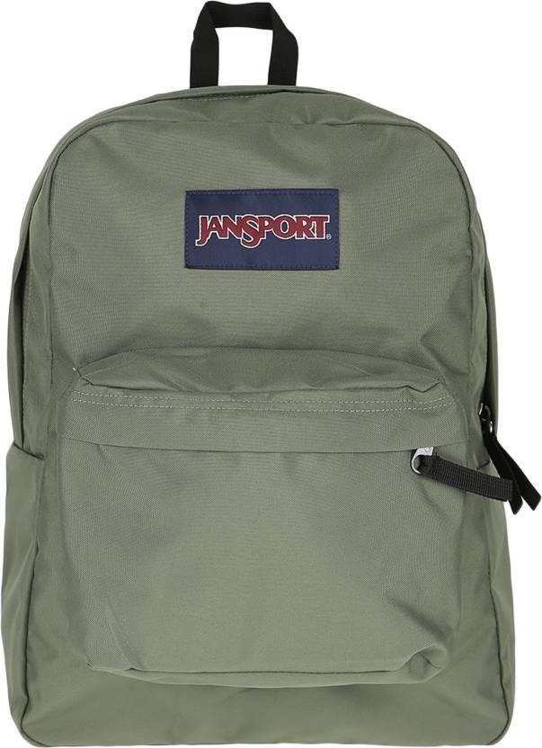 eed7cf4945847 JanSport Superbreak Backpack 0HC MUTED GREEN - Price in India | Flipkart.com