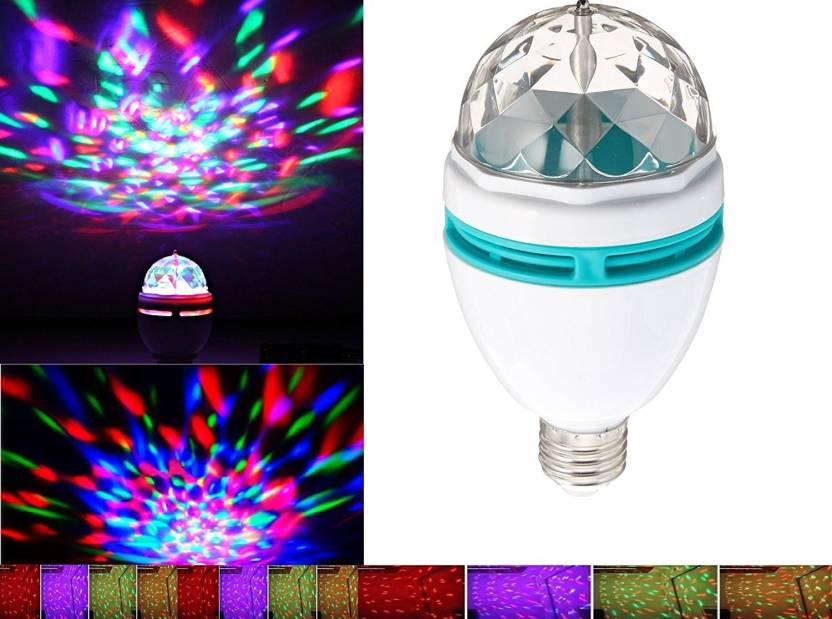Vibex Disco Ball Lamp Rgb Rotating Led Strobe Party Bulb Stage Light For Family