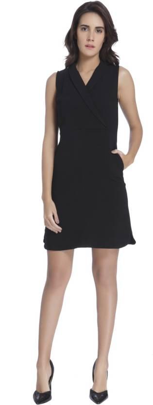 Vero Moda Women's Shift Black Dress