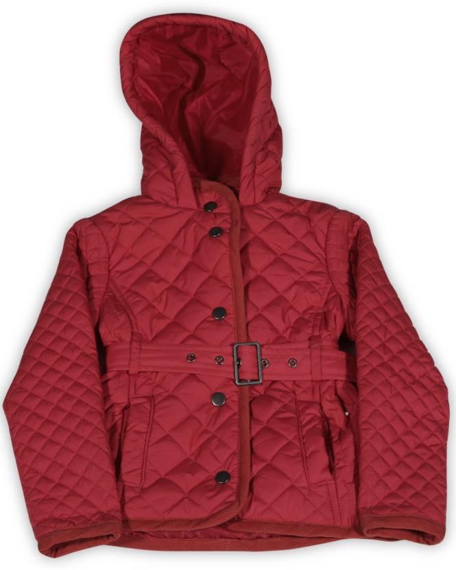 f222061ba8ba NautiNati Full Sleeve Solid Girls Jacket - Buy RED NautiNati Full ...