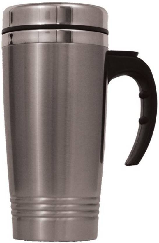 d5568acda01 VibeX ® New 16oz Insulated COFFEE TRAVEL MUG Stainless Steel Double Wall  Thermos Tumbler Stainless Steel Mug (500 ml)