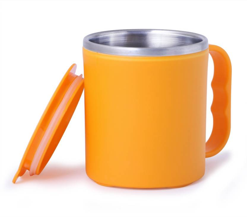 e76c151ca75 Maa Khwab Drinking Unbreakable Yellow Color Hot Double Wall Plastic With  Stainless Steel Inner Tea,Coffee,Milk/Cup Plastic Mug (100 ml)