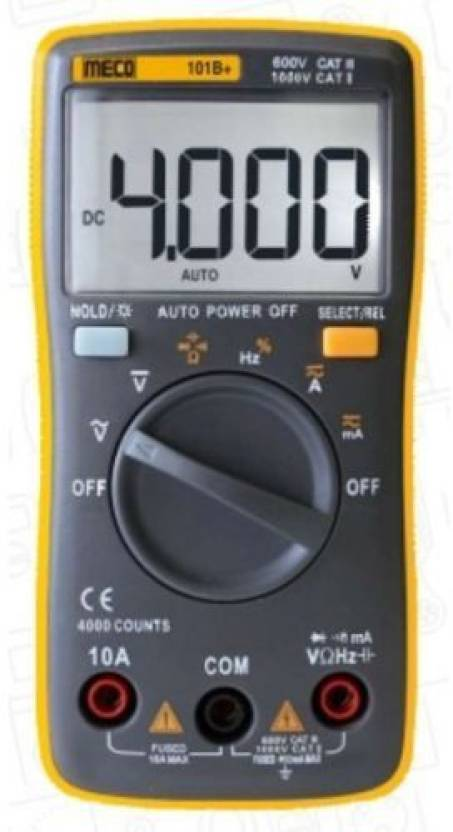 Meco 101B+ 40mA-10A AC Current with Calibration Certificate Digital  Multimeter