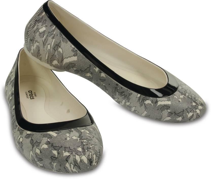 8d5567ea28f2c5 Crocs Women Off white Flats - Buy 203406-14K Color Crocs Women Off white  Flats Online at Best Price - Shop Online for Footwears in India