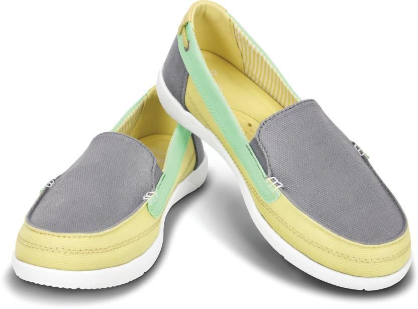 27427ecf81e Crocs Walu Canvas Loafer Women Canvas Shoes For Women - Buy Smoke ...