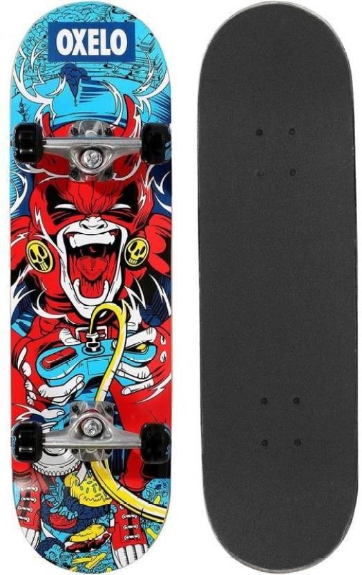 579da8956 OXELO by Decathlon MID 3 Skateboard 8 inch x 29 inch Skateboard  (Multicolor