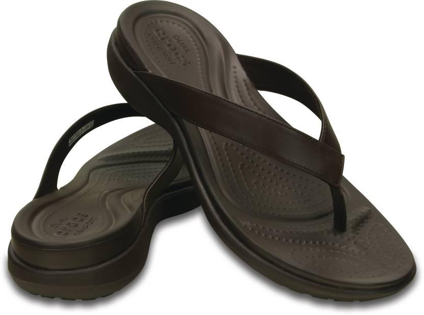ceb53acec Crocs Capri V Flip W Flip Flops - Buy Espresso/Espresso Color Crocs Capri V  Flip W Flip Flops Online at Best Price - Shop Online for Footwears in India  ...