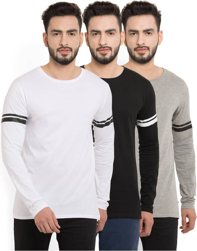 Billion PerfectFit Solid Men Round Neck Multicolor T-Shirt