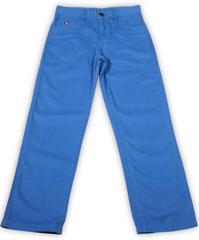 56621b3fae US Polo Kids Slim Fit Boys Blue Trousers - Buy ME.BLUE US Polo Kids Slim  Fit Boys Blue Trousers Online at Best Prices in India | Flipkart.com