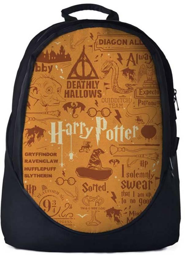 b212266fc560 The Souled Store. Harry Potter  Doodle Backpack 30 L Backpack Black ...