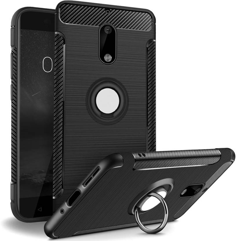 premium selection 2db12 63540 REALIKE Back Cover for Nokia 6 Aemotoy Protective Armor Bumper 360 Degrees  Ring Kickstand Shockproof Defender Case