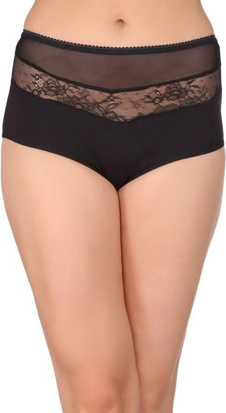 268313ad722 Clovia Women s Hipster Black Panty - Buy Clovia Women s Hipster ...