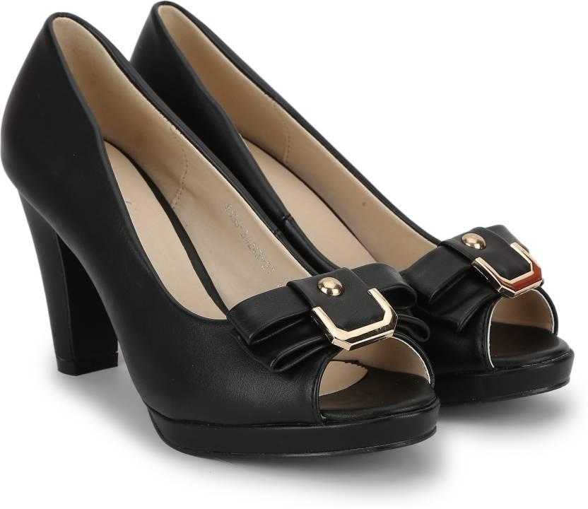 Chemistry Women Black Heels - Buy Black Color Chemistry Women ...