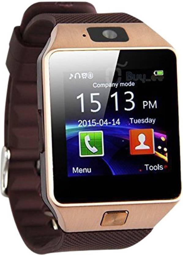 Benison India ™with SIM card, 32GB memory card slot, Bluetooth and Fitness Tracker Brown Smartwatch