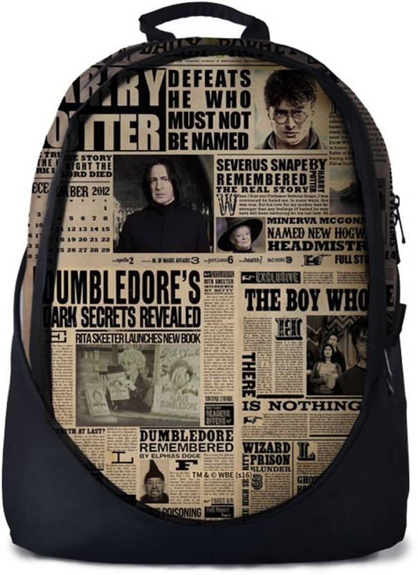 89a104093d59 The Souled Store. Harry Potter  The Daily Prophet Backpack 30 L Backpack  (Beige)