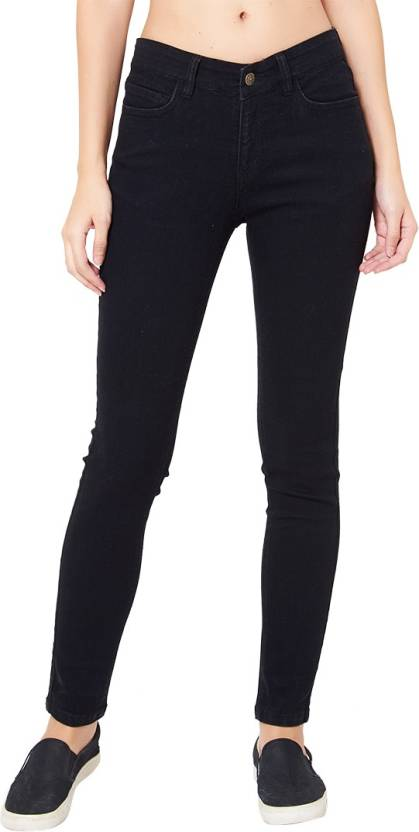 Provogue Skinny Womens Black Jeans