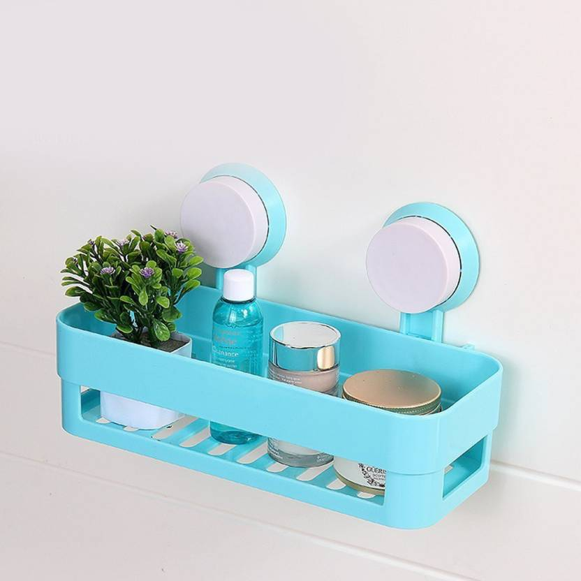 Nightstar Bathroom Shelves Blue Plastic