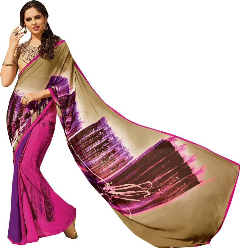 1208ef021f Buy Only Vimal Self Design Fashion Georgette Multicolor Sarees ...