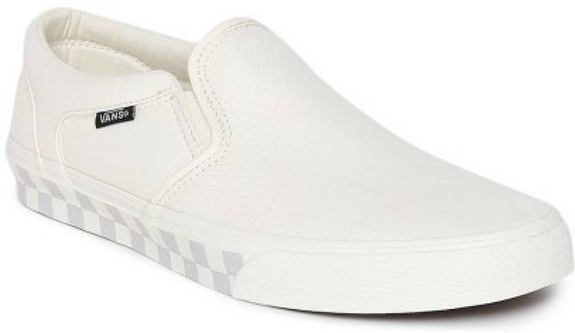 Vans ASHER Loafers For Men - Buy (CHECK FOX) CLASSIC WHITE Color ... 597842346