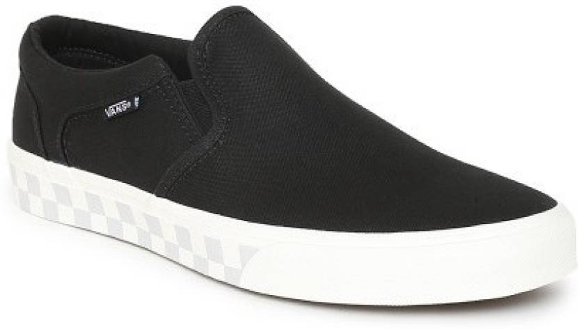Vans ASHER Loafers For Men - Buy (CHECK FOX) BLACK Color Vans ASHER ... 81c1a37ae
