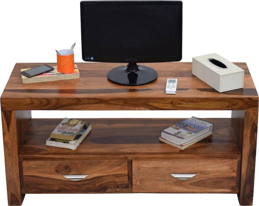 Timbertaste 2 Draw Sheesham Solid Wood Tv Entertainment Unit