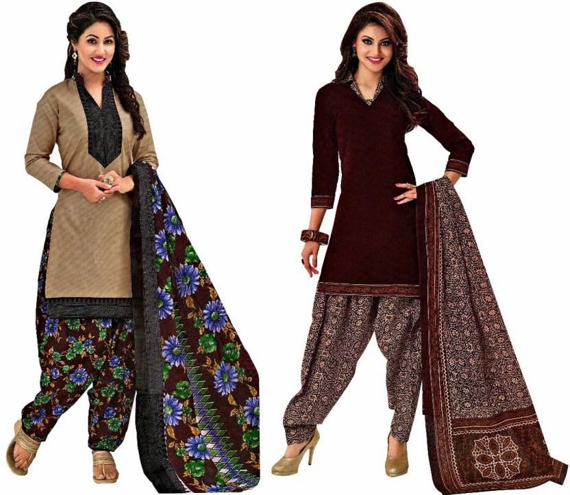Reya Crepe Floral Print Salwar Suit Dupatta Material