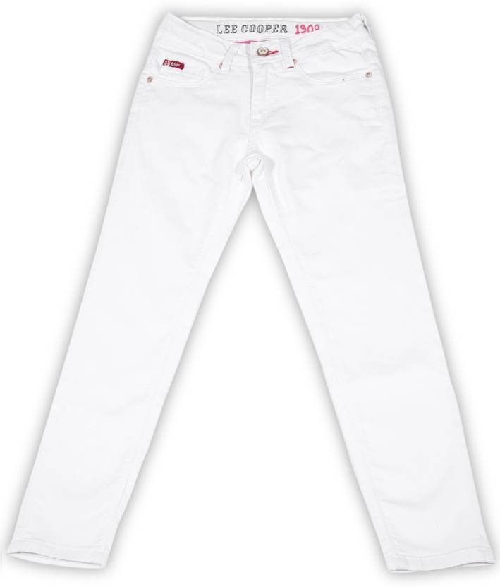 a515ae71 Lee Cooper Juniors Slim Girl's White Jeans - Buy WHITE Lee Cooper Juniors  Slim Girl's White Jeans Online at Best Prices in India | Flipkart.com