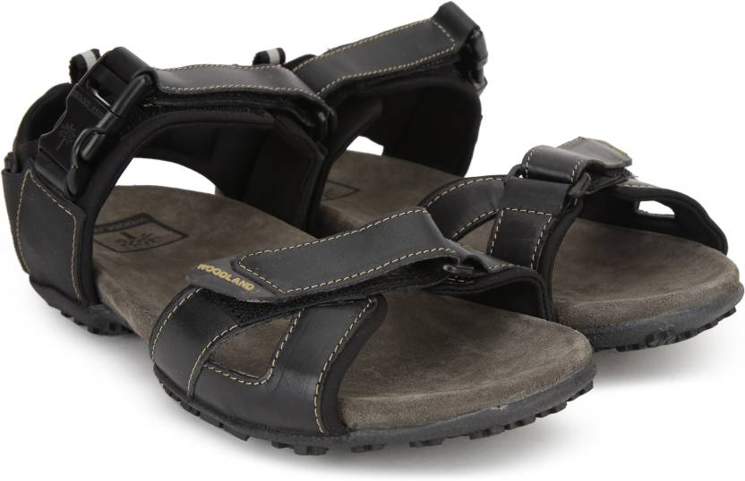 039b5227e40c4 Woodland Men BLACK Sports Sandals - Buy BLACK Color Woodland Men BLACK  Sports Sandals Online at Best Price - Shop Online for Footwears in India