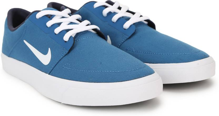 a306d537b246 Nike SB PORTMORE CNVS Sneakers For Men - Buy BLUE   WHITE Color Nike ...