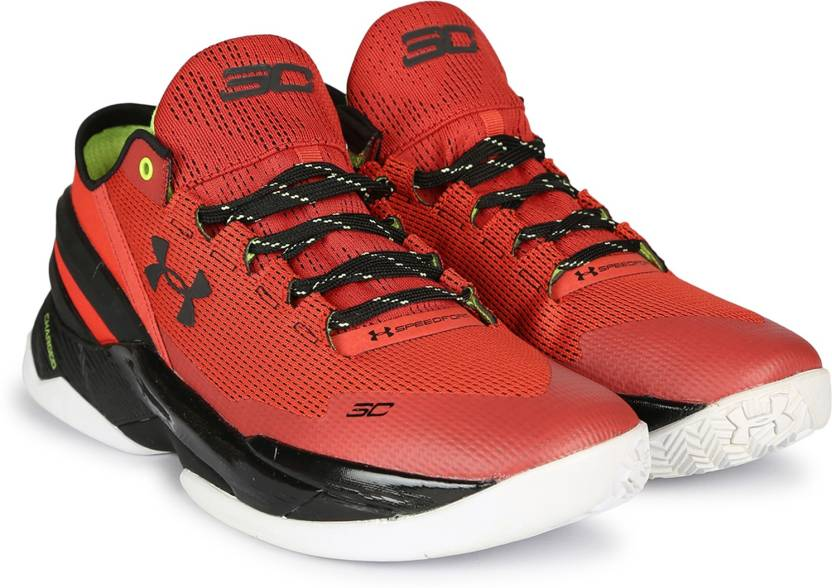 661933a1d Under Armour UA CURRY 2.0 Basketball Shoes For Men - Buy RED/BLACK ...