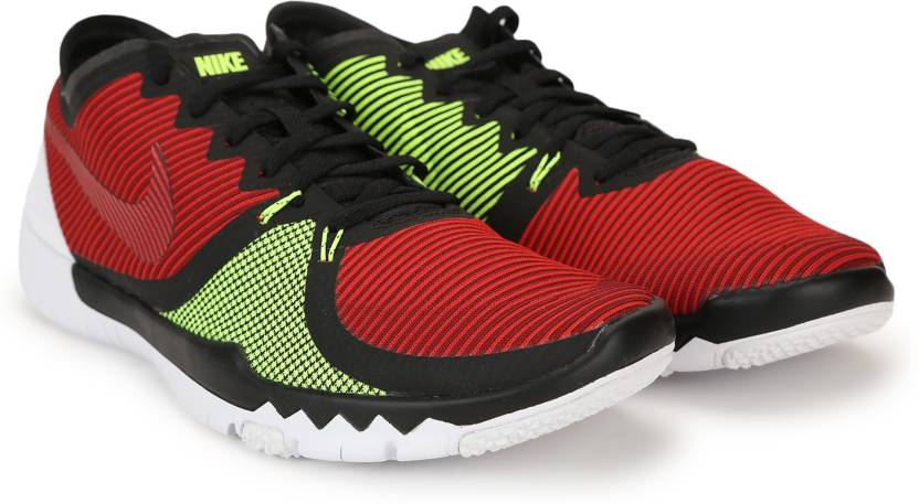 8b602b131cecd Nike FREE TRAINER 3.0 V4 Training Shoes For Men - Buy BLACK TEAM RED ...