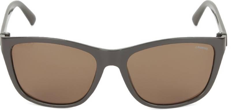 01faed2f08 Buy Polaroid Wayfarer Sunglasses Brown For Men Online   Best Prices ...