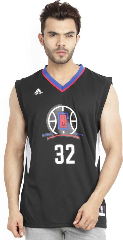 ADIDAS Printed Men s V-neck Black T-Shirt - Buy NBA LOS ANGELES CLIPPERS  ADIDAS Printed Men s V-neck Black T-Shirt Online at Best Prices in India ... 6399bc461