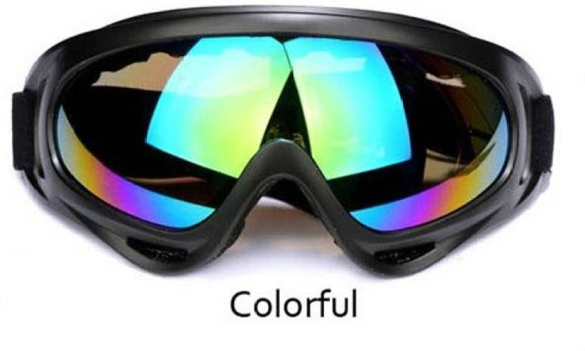 7f66119a85f AutoPowerz Dirt Bike Racing Transparent Goggles with Adjustable Strap  Motorcycle Goggles (White)