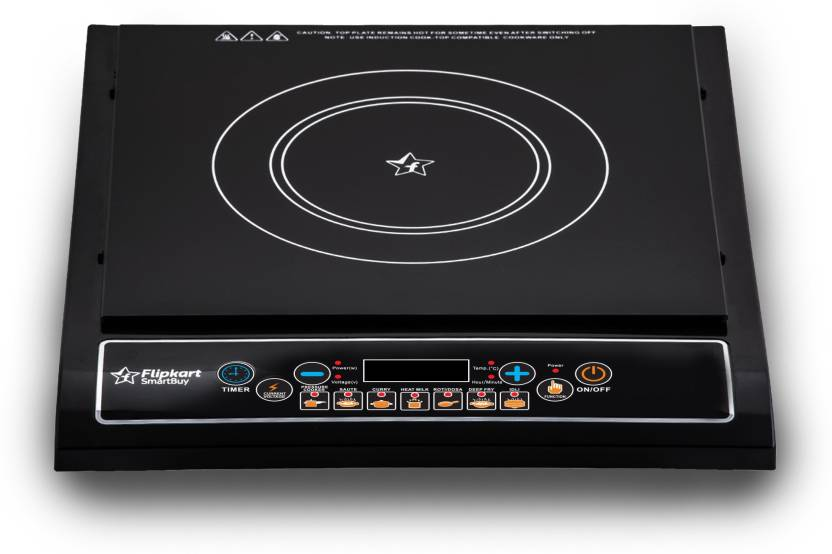 Flipkart SmartBuy Induction Cooktop  (Black, Push Button)