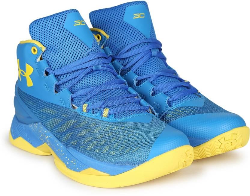 new concept 7b0da f05a8 Under Armour UA SC 30 Top Gun Basketball Shoes For Men (Blue)