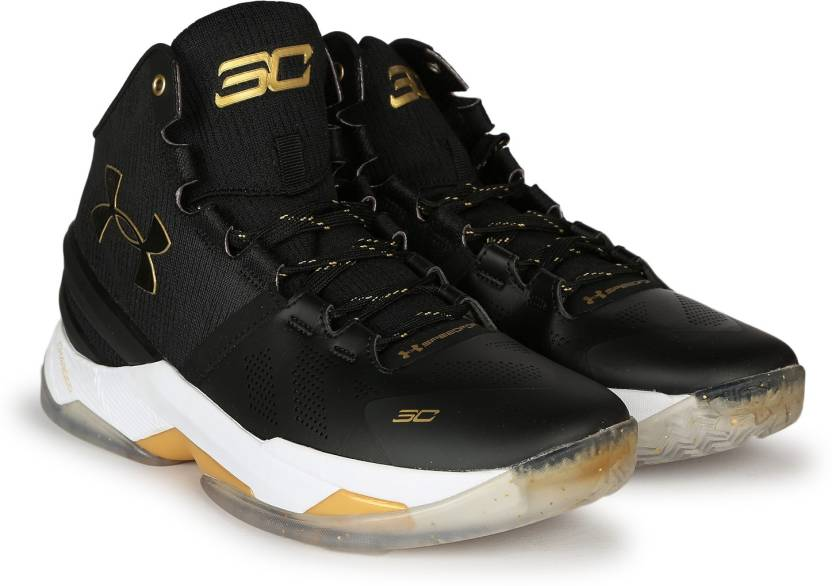 564078ade04 Under Armour UA CURRY 2.0 Basketball Shoes For Men - Buy BLACK WHITE ...