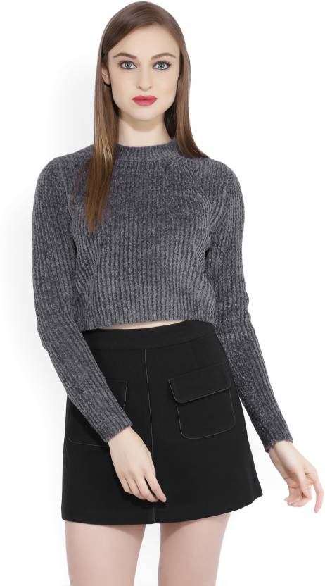 5806e159a9 Forever 21 Casual Women's Sweater - Buy CHARCOAL Forever 21 Casual Women's  Sweater Online at Best Prices in India | Flipkart.com