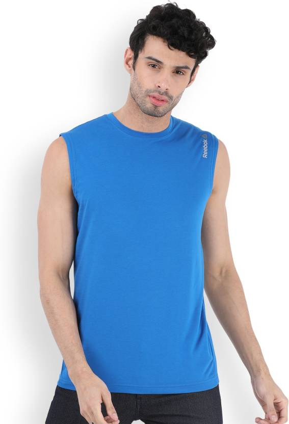3ab3b092fa1148 REEBOK Solid Men s Round Neck T-Shirt - Buy AWESOM REEBOK Solid Men s Round  Neck T-Shirt Online at Best Prices in India