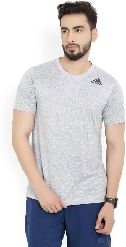 d44c328b ADIDAS Solid Men's Round Neck T-Shirt - Buy White ADIDAS Solid Men's Round  Neck T-Shirt Online at Best Prices in India   Flipkart.com