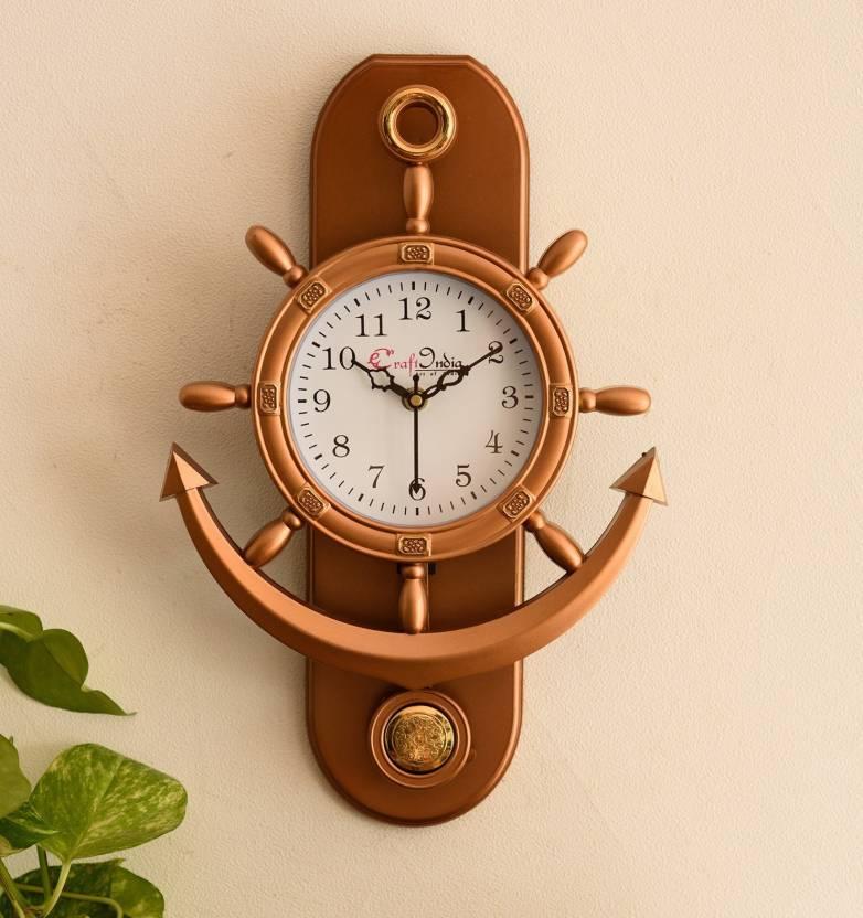 008356e97 eCraftIndia Analog Wall Clock Price in India - Buy eCraftIndia ...