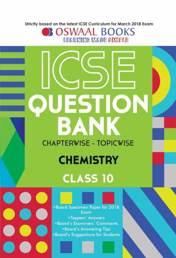 Oswaal ICSE Question Bank Chapterwise Chemistry for Class 10